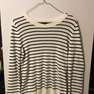 Off white striped sweater for Fall!